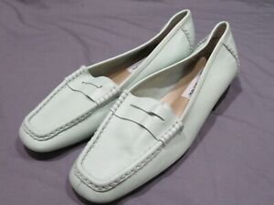 New Women's Bellini Annie Leather Slip On Tea Green Loafers Shoes Sz 9W 9 Wide