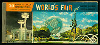 US 1964-65 New York World's Fair Book of 7 Picture Postcards
