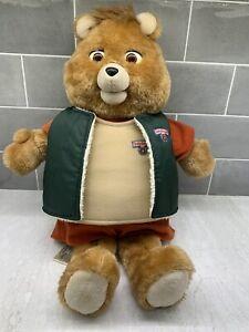 VTG 1985 Teddy Ruxpin w/ Adventure Vest Talking Teddy TAPE DECK SPINS & 5 Books!