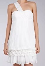 BNWT🌹Coast 🌹Shannon One Shoulder Dress SIZE 6 White Ivory Pleated, Weddings XS