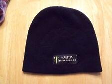 I44 Monster Energy motocross  black knit beanie hat skull cap one size fits most