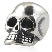 SKULL 925 Sterling Silver Charm Bead
