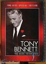 DVD/   CLINT EASTWOOD presents TONY BENETT The MUSIC NEVER ENDS.