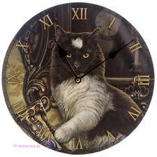 Wanduhr Bilderuhr Uhr Deko Times Up Katze mit Sanduhr auf Sofa