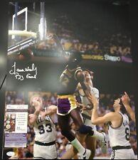 James Worthy Signed 16x20 Los Angeles Lakers Photo JSA COA Inscriptions