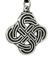 Pewter Viking Shield Skjold Knotwork Pendant - Asatru Heathen Necklace Jewelry
