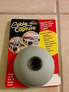 Cable Capture Cord Organizer Gray FREE DOMESTIC SHIP