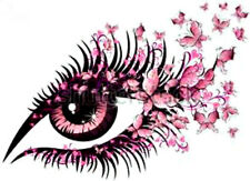 20  WATER SLIDE NAIL ART  DECAL TRANSFERS PINK EYE WITH TINY  BUTTERFLYS