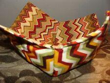 Microwave Bowl Holder Bowl Cozy Bowl Potholder Chevron Earth tone Bowl Cover