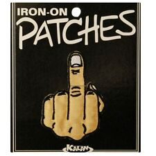 Wholesale Lot Of 10 Middle Finger Biker Iron On Applique Patches