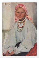 "RUSSIE Russia Théme Types russes costumes personnages jeune fille ""pleine fleur"""