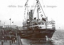 "Photo - 5"" x 7"" Print: Empress Of Ireland Docked, Stern View, Liverpool, 1909"