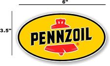 """(PENN-2) 6"""" PENNZOIL OIL LUBSTER front DECAL GAS PUMP SIGN GASOLINE"""