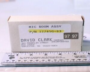 (9345) David Clark Aircraft Mic Boom Assembly PN:12765G-03