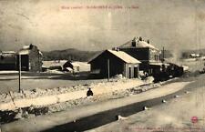 ST LAURENT DU JURA - La Gare - Hiver 1906-07 (neige et train)