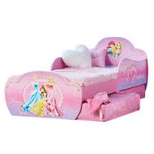 Kinderbett + Schubladen Disney Princess 140x70cm Jugendbett Juniorbett Holz rosa