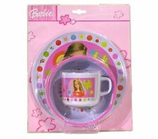 5pc Dining Feeding Gift Set Plate Bowl Mug Spoon Fork Mattel Barbie New