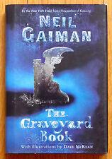 THE GRAVEYARD BOOK Neil Gaiman 1st/1st 2008 Newbery Medal HBDJ VGC L1