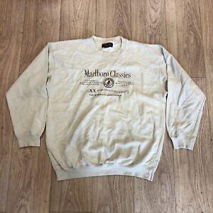 Vintage Marlboro Classics Sweater Sweatshirt L Large Beige B6089