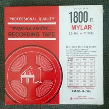 New Realistic 7 Inch Reel to Reel Mylar Recording Tape 1800 Ft