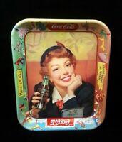Vintage 1950's Coca Cola Coke Serving Tray Thirst Knows No Season