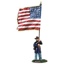 W. Britain ACW Union Sergeant Abel Peck Flaggenträger, Federal Color, 31244