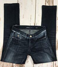 """MISS SIXTY Denim """"Colette Slim"""" Blue Jeans Straight Leg Juniors Ladies Size 24"""