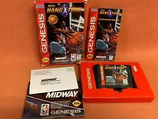 NBA Hang Time Hangtime Sega Genesis OEM Authentic Complete Poster Registration!