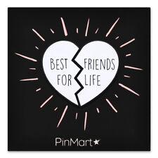 Heart Trendy Enamel Lapel Pin PinMart's Best Friends For Life