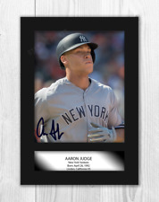 More details for aaron judge a4 signed mounted photograph picture poster. choice of frame.
