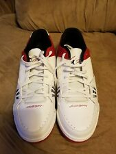 Jordan SC-1 LOW White/White GYM Red-Black 599929-101 Mens Size 12 clean