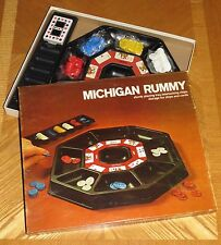 1974 Milton Bradley Michigan Rummy Game sturdy tray cards chips New Sealed Parts