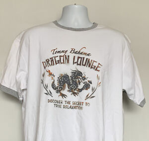 Tommy Bahama Dragon Lounge Secret to True Relaxation Ringer T Shirt Mens Large