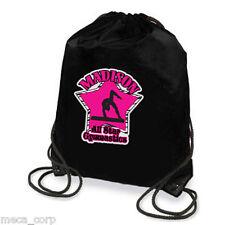 Gymnastics Imprinted Personalized Sport Tote drawstring bag