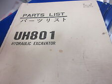 Hitachi UH801 Excavator Parts Catalog Manual