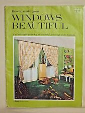 1969 How to Make Your Windows Beautiful Vol 111, A Kirsch Publication, DIY Guide