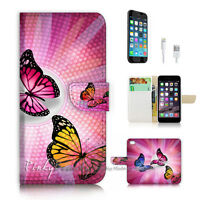 ( For iPhone 7 ) Wallet Case Cover P2744 Butterfly