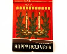 Vtg Large Xmas Matchbook 'Ship Grill' 400 E 57 St Nyc Match Candles R Xmas Scene