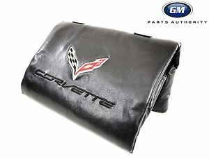 2014-2019 Corvette C7 Removable Roof Panel Storage Bag 23148691 Black w/ Logo OE
