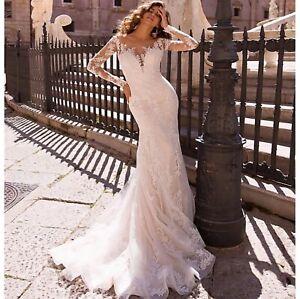 Mermaid Trompette Hochzeitskleid Xs Neu