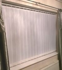 Vertical blinds non blackout plain Cream pattern Made to Measure up to 400cm