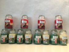 Job Lot Wholesale Clearance 12 Christmas Scented Candles Glass Jar Triple Scent