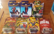 Hot Wheels 2017 Spider-Man: Homecoming Series Set of 6 plus CHASE model (A+/A)