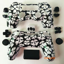Hydro Dipped White Ghosts Housing Shell case button mod kit for PS4 Controller