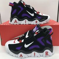 New Nike Air Barrage Mid QS Raptors Black Purple CD9329-001 Mens Size