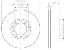 2 x Textar Bremsscheibe VA passend für Mercedes Benz T1 - Nr. 93012400