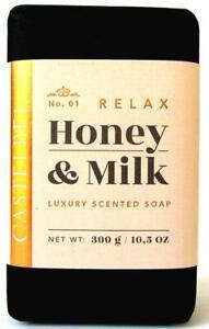 Castelbel Porto Relax Honey & Milk Luxury Scented Soap Bar 10.5 oz