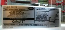 Land Rover Catalizador 2.5 MOTOR 2006eu EMISIONES Etiqueta pegatina bac500381