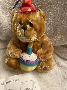 Plush  Singing Birthday Bear  2004 Stuffed Animal Toy New. Sings Happy B Day