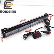 "18"" 16 LED Blue Traffic Advisor Vehicle Strobe Lights Bar Emergency Warning"